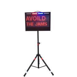 Signo de mensaje variable LED portátil de pantalla de aviso de tráfico
