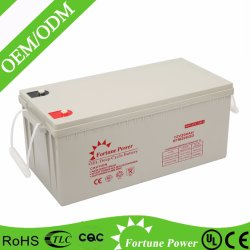 Totalizzatori solari approvati di IEC 12V200ah Akkumulators con lunga vita 15years