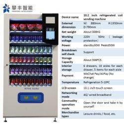 La bière de l'eau de boisson de collation Combo Buvez du jus Cigarette Machine distributrice de préservatifs avec kiosque