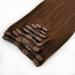 Природные Заколка в волосы добавочный номер 100 человеческого волоса двойной обращено
