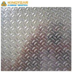Schritt-Aluminiumplatte 1050 1060 3003 3105 H14 H24 prägte Checkered Aluminiumblatt-Platte für Bus-/LKW-/Lieferungs-Fußboden