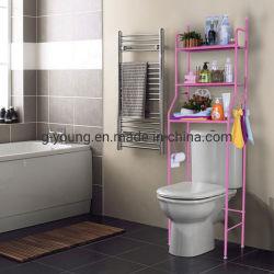 Het drievoudige Rek van het Toilet van de Badkamers van de Opslag van de Pijp van de Buis van het Staal van het Metaal van de Vloer van de Rij