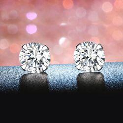 S925 Sterling Silber Stud Fashion Hochzeit Ohrringe Schmuck