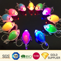 Com a gravação Digital Multifuncional bola de cristal Chaveiro Cartoon Porta-chaves Animal Keyring Lanterna Torch Reflective Turbo Chaveiro LED de PVC de imprensa