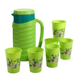 Enfriador de agua de plástico/ Jarra con tazas