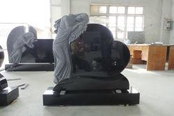 Monumenti di pietra neri del granito della pietra tombale della Cina