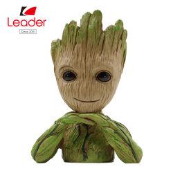 Árbol de maceta Polyresin Best-Selling sembradora bebé lindo Groot Pen Holder, Maceta Groot