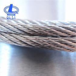 Cuerda de alambre de acero inoxidable 6X19, núcleo de la fibra y el núcleo de acero