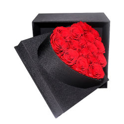 La tecnología japonesa bella y romántica San Valentín regalo del Día de las conservas de flor rosas 16 rosas en el Corazón Caja de regalo