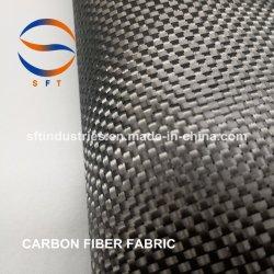 3K 200gramos de tejido de sarga normal de fibra de carbono para GRP FRP