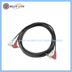 RCAの接続の音声は2RCA直角のコネクターに2RCAをケーブルで通信する