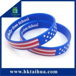 Custom страны флага браслет силиконовый браслет для избрания голосования