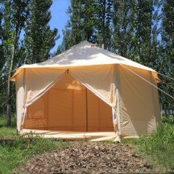 Matériau de toile de tente de pliage naturelles style maison de Kazakhs UK Tenda yourte
