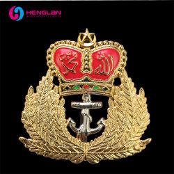 Китай на заводе Custom 24k позолоченными контактами 3D-эмаль металлических сплавов латуни полиции Армии герб Малайзии военных знаков различия с логотипом логотип с