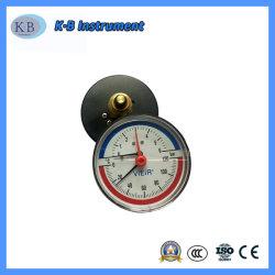 80мм черный стальной корпус латунные внутренние давления и температуры термометр