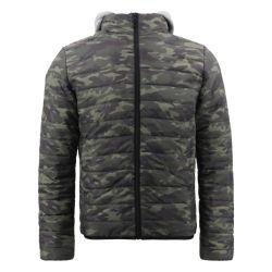 Preço por grosso de Cold Winter Shell suave à prova de táctica Ultra Light estabelece Camo Caça Puffer jaqueta de camuflagem de sublimação personalizados para os homens do Desporto do capô de impressão