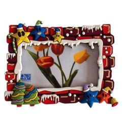 De in het groot 3D PromotieOmlijsting van de Foto van de Magneet van de Koelkast PVC/Rubber van Kerstmis Zachte (021)