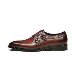 Mönch-BrückeSlip-onkleid-Schuhe für Mann-Leder-formale Geschäfts-Oxford-Müßiggänger-Schuhe