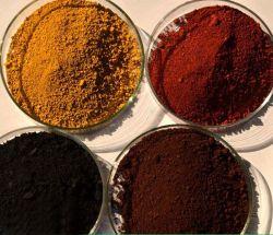O melhor preço 95% de óxido de ferro vermelho 130 para azulejos de borracha/cimento/Brick/Concreto/Espalhadoras
