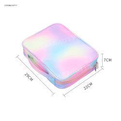 Principales tendances actuelles Petites unique Rose Cuir synthétique Sac cosmétique, produits de toilette de marque Housse de voyage