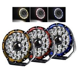 1 لكس@2000 متر ثلاثة مصابيح LED للعمل على جرار غير ممهد لشاحنة مصابيح القيادة LED بالليزر للقيادة الرياضية متعددة الاستعمالات ذات مصابيح القيادة أثناء النهار (DRL) مقاس 9 بوصات