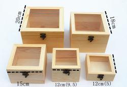 Boîte d'emballage en bois de fleurs
