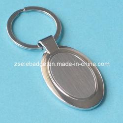 حلقة مفاتيح مصنوعة من الزنك المحتوي على علف مع حشوة فولاذية فارغة (Ele-K047)