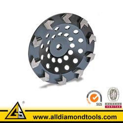 Tipo de seta Diamond Rangidos Cup roda para betão