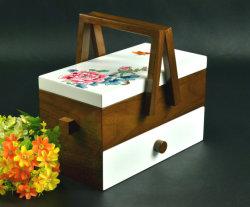 نمط تزييني رسم الخشب تخزين سلة الطعام