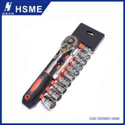 12PCS 소켓 렌치 공구를 고치는 자전거 기관자전차 차를 위한 고정되는 1/4 인치 크롬 V 드라이브 래치드 스패너 스패너