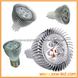 3*1W haute puissance GU10/E27/MR16/E26 LED Spot Light 230VCA/12VCC