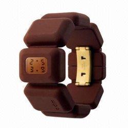 Les adolescents en silicone colorées montres montres en silicone (010)