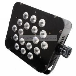 18x3W 3en1 Tri par la lumière LED de couleur à plat