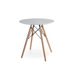 Современные круглые кофейные столики для отдыха Домашняя мебель диван сторону массивной древесины и стальной каркас для приготовления чая и таблица, белого цвета