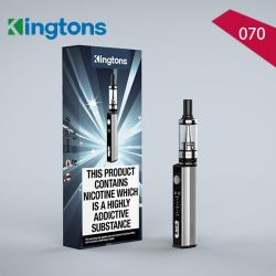 De nouveaux produits 2017 de la conformité de la DPT Kingtons 070 Cigarette électronique