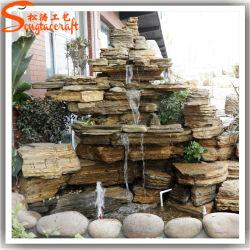 Fontana di acqua di plastica artificiale diretta della fabbrica per la decorazione del giardino