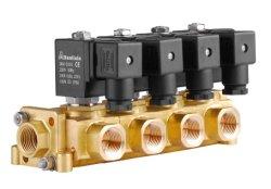 La serie del tipo del colector de 2/2 vías de acción directa de latón Agua Aire Válvula de solenoide (LES)