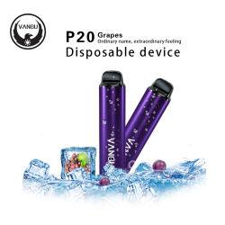 使い捨て可能なタバコが付いているブドウのEタバコのペンのVangu P20 700のパフの小型棒