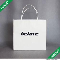 Logotipo estampado Libro Blanco de la bolsa de embalaje de impresión camiseta para
