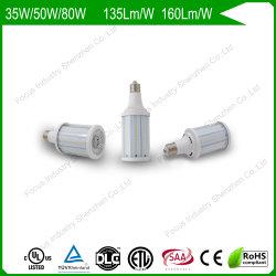 35W 6kvのサージの保護160lm/Wトンネルライトまたは外壁のパックのための70With100Wによって隠される置換LEDのトウモロコシの球根ライト