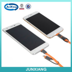 2 in 1 USB Extension Cable voor Mobile Phone Charger voor iPhone/Samsung