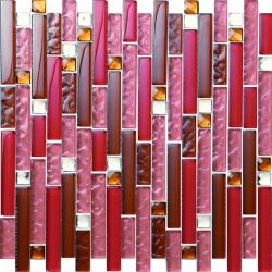 직사각형 크리스탈 유리 모자이크 타일 가격 바닥과 벽