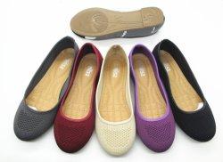 Mesdames Flats femmes décontractées Chaussures en cuir Toe ronde Ballerina