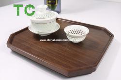 Commerce de gros Bois Octogonal plateau à thé en bois de noyer noir desservant les plaques de servir de Bac planche en bois servant de vaisselle en bois