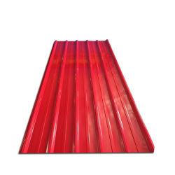 Material de construcción de acero prebarnizado techo de metal hierro galvanizado recubierto de zinc de color de la hoja de acero corrugado PPGI Hoja de techado