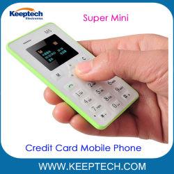 学生および子供のための卸し売り小型クレジットカードの形の携帯電話GSMの小型の電話M5