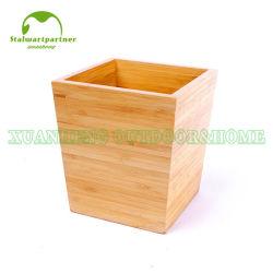 Armazenamento de lixeira cesto de lixo de bambu Bin