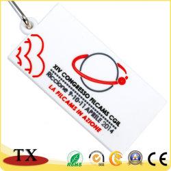 Белый прямоугольник подарок для продвижения компании мягкий ПВХ с кольцом