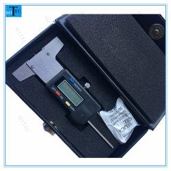 Zoll-Digital-Gummireifen-Gewinde-Tiefen-Anzeigeinstrument-elektronisches messendes Hilfsmittel des Edelstahl-0-25mm metrisches