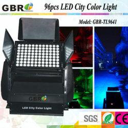 Der Gbr Stadt-Farben-96PCS 10W 12W 15W RGBW im Freien Licht Wand-der Unterlegscheibe-LED